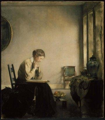 Edmund Charles Tarbell -girl reading 1909