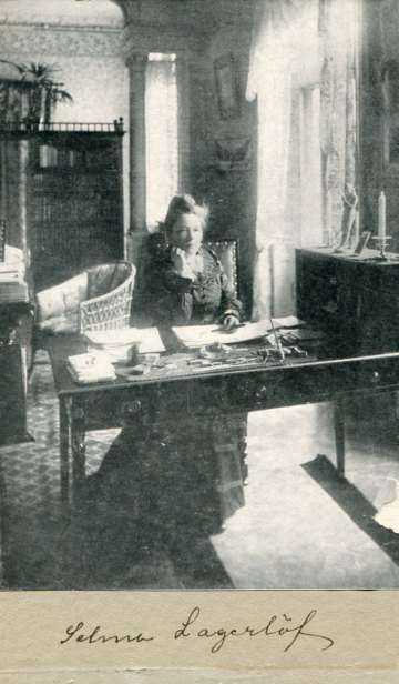 Selma Lagerlöf (1858 – 1940) was a Swedish author. She was the first female writer to win the Nobel Prize in Literature.