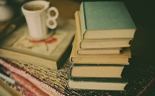 books with tea