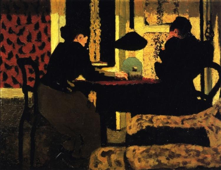 edouard-vuillard-deux-femmes-sous-la-lampe-1892